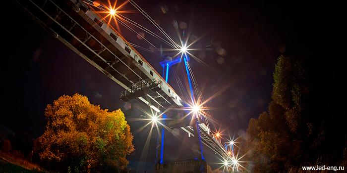 Светодиодные светильники LED Engineering освещают мост в Воскресенске